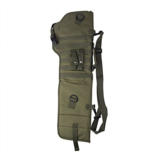 (aokur Tactical Pistol Scabbard Holster Molle Rifle Sling Case Bag for Tactical Shotgun Outdoor Hunting (Army green))