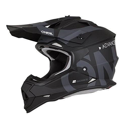 O'Neal Unisex-Adult Off Road 2SERIES Helmet (SLICK) (Black/Gray, Large)
