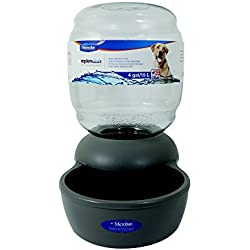 Petmate Replendish Gravity Waterer Grey Dog Bowl, 4 gallon, Large, Grey/Transparent