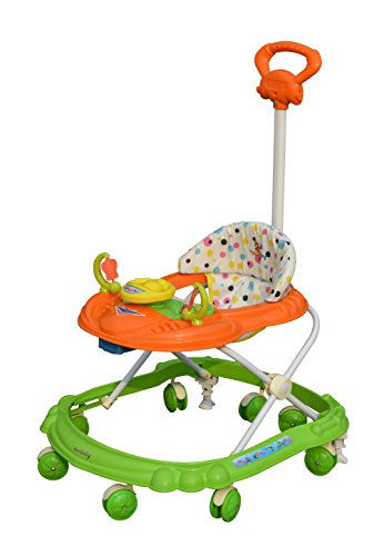 Sunbaby Hot Racer Musical Walker, Orange/Green