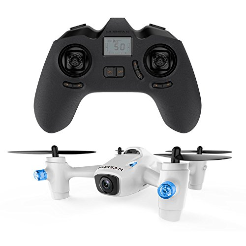 HUBSAN Kids H107C+ Second Generation X4 Quad Toy with HD Camera, 2.4 GHz, White