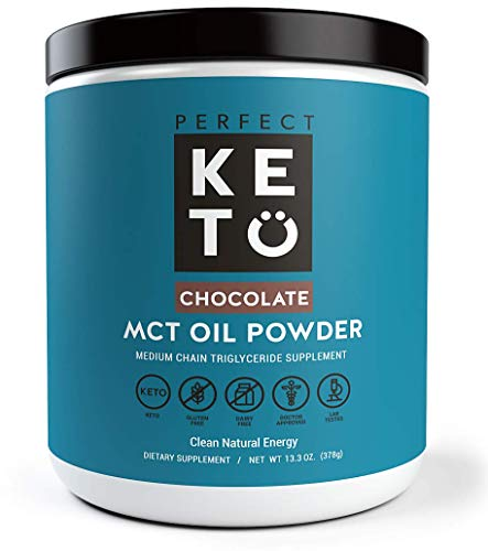 - Perfect Keto MCT Oil Powder: Ketosis Supplement (Medium Chain Triglycerides, Coconuts) for Ketone Energy. Paleo Natural Non Dairy Ketogenic Keto Coffee Creamer (Chocolate)