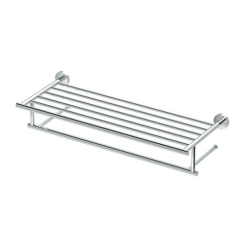 Gatco 4637 Glam Minimalist Towel Rack, 24 Inch, Chrome
