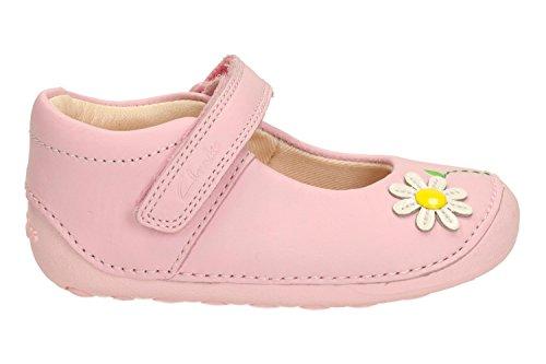 Clarks Mermelada de chicas preandante zapatitos en blanco, rosa o azul marino Baby Pink 4½ E