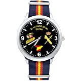 Reloj Guardia Civil Sumergible Esfera Negra Correa Bandera España: Amazon.es: Relojes