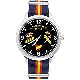 Reloj G&B Guardia Civil Correa Bandera España Verde Esfera Negra: Amazon.es: Relojes