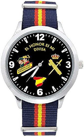 Reloj G&B Guardia Civil Correa Bandera España Azul Esfera Negra ...