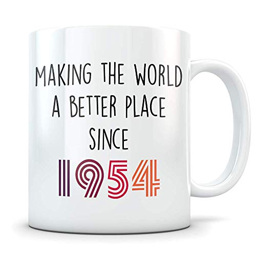 Funny 65th Birthday Gift for Women and Men - 1954 Turning 65 Years Old Happy Bday Coffee Mug - Gag Party Cup Idea for a Joke Celebration - Best Adult Birthday Presents