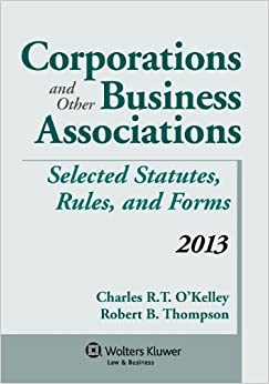 Book Corporations and Other Business Associations 2013 Statutory Supplement