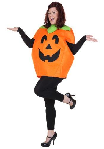 Plus Size Orange Pumpkin Jack-O-Lantern Costume Plus
