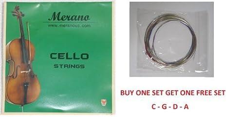 Medium Red Label Cello A String 1//8 Size
