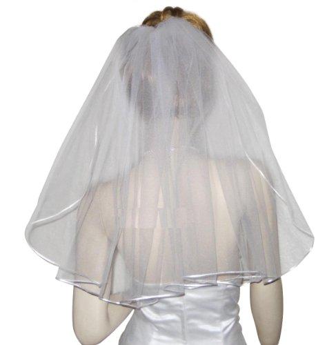 Shop Ginger Wedding 1T Shoulder Bridal Veil Communion Satin (Glimmer (Bridal Satin Veil)