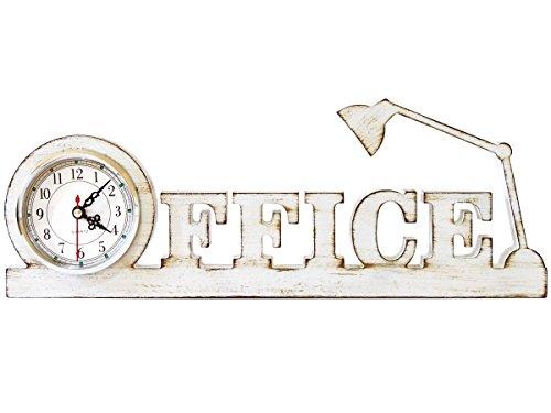 Ornamento Relógio Concept - Modelo Office (Lamp) - ME Criative - 20x40cm (Branco)
