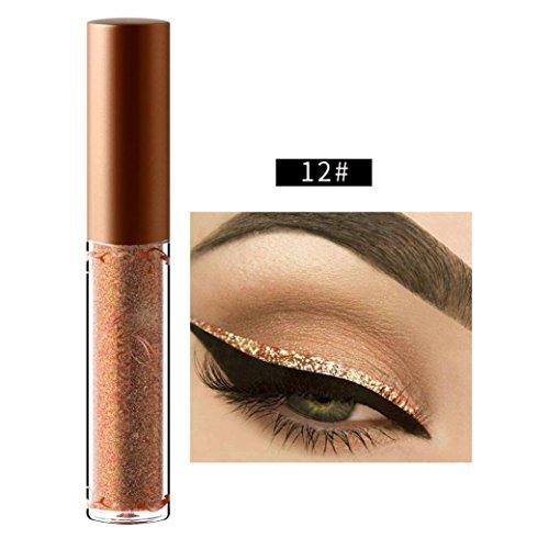 Price comparison product image Franterd Liquid Eyeliner - Beauty Metallic Shiny Smoky Eyes Eyeshadow Glitter Eyeliner - long-lasting - Waterproof (L)
