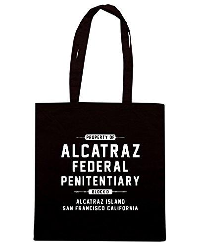 T-Shirtshock - Bolsa para la compra OLDENG00378 alcatraz Negro