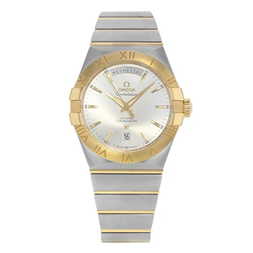 Omega Constellation Co-Axial Day-Date 38mm Yellow Gold on Steel Men's Watch 123.20.38.22.02.002 - Omega Constellation Coaxial