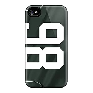 Bumper Hard Phone Cases For Iphone 4/4s With Unique Design Fashion New York Jets Pictures ChristopherWalsh