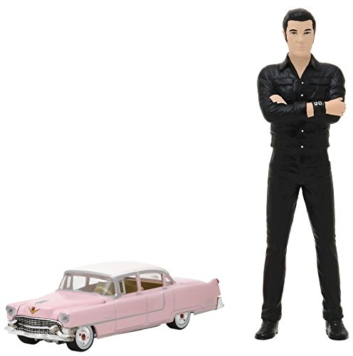 Greenlight 29898 1:64 Scale Cadillac Fleetwood with 1:18 Scale Elvis Presley (Elvis Light)