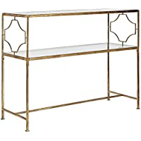 Iron Console Table in Gold Finish