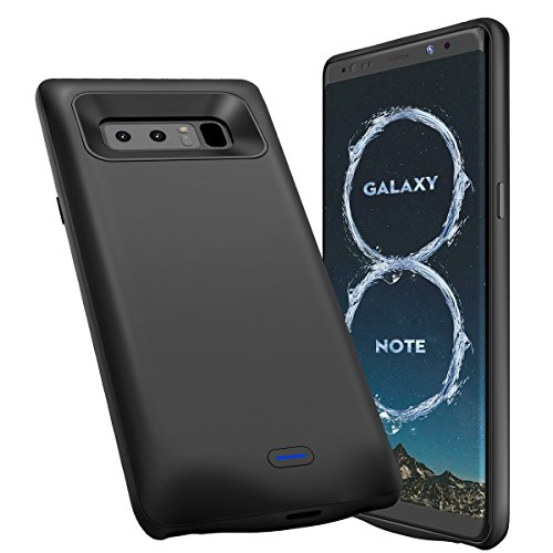 Galaxy Note 8 Battery Case, Newdery 5500mAh Portable External Note 8 Charging Case, USB Type C Protective Battery Power Bank Charger Case for Samsung Galaxy Note 8 (Black)