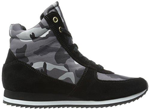Bella Vita Dames Enice Fashion Sneaker Zwart Suede Camo