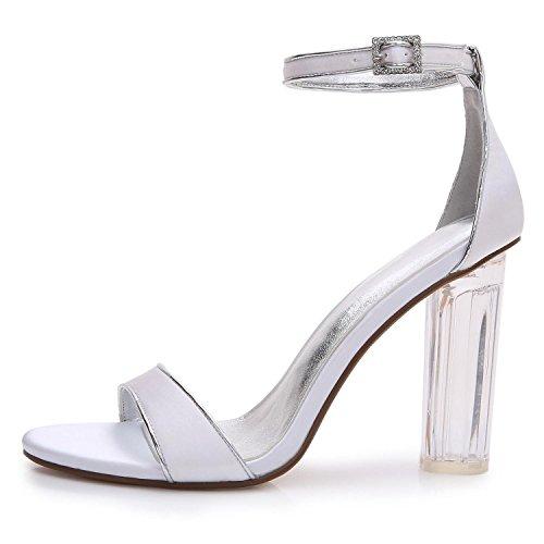 L@YC Damen-Hochzeitsschuhe Crystal S-2615-14 Grobe Plattform Heels & abend & Professional MaßGeschneiderte GroßE GrößE Schuhe Weiß