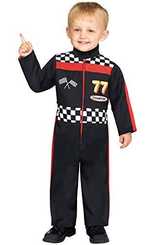 Fun World Race Car Driver Toddler Costume, Multicolor, Large