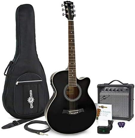 Guitarra Electroacustica de Cutaway Individual + Paquete de Ampli ...
