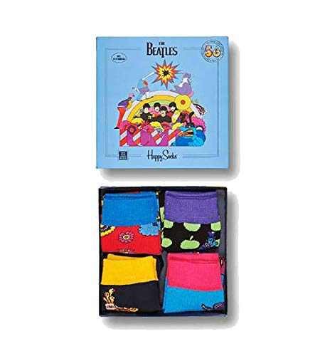 Happy Socks Unisex Beatles 50th Anniversary Kids Collectors Box 4-Pack (Infant/Toddler)