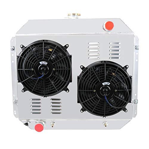 (Primecooling 3 Row Full Aluminum Radiator +2X12