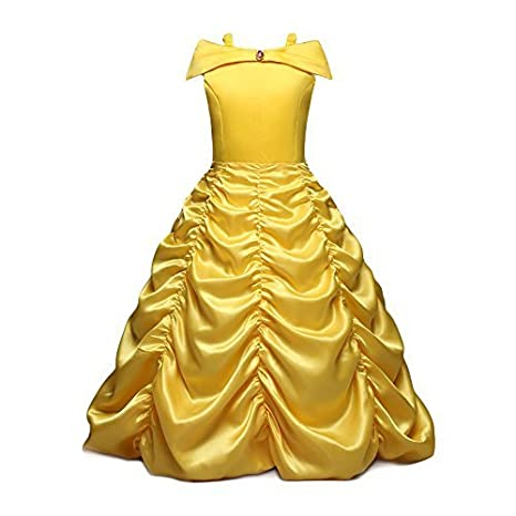 belle costume bambina  NNDOLL Dettagli su Belle Principessa Vestito Beauty Beast Costume ...