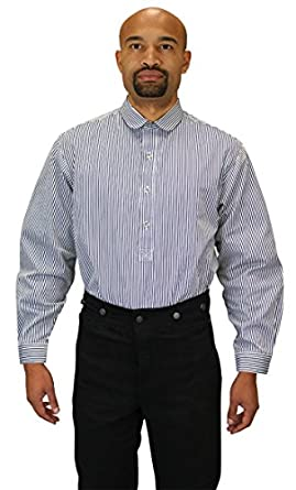 Edwardian Men's Shirts & Sweaters Mens Coulter Edwardian Club Collar Dress Shirt $59.95 AT vintagedancer.com