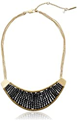 """Kenneth Cole New York Jet Jewels Faceted Bead Crescent Necklace, 16"""" + 3"""" Extender"""