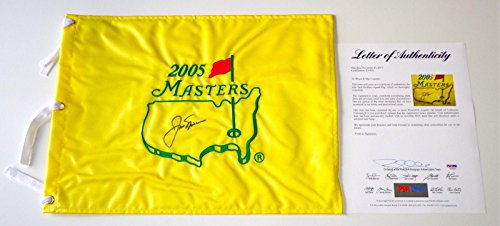 Jack Nicklaus Signed 2005 Masters Pin Flag Loa T05856 - PSA/DNA Certified - Autographed Golf Pin Flags