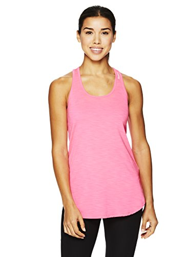 Reebok Women's Legend Performance Singlet Racerback Tank Top- Slub Wild Pink/Pink, - For Women Singlet