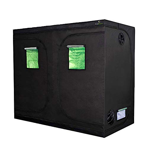 96'x48'x80'Mylar Hydroponic Grow Tent with Obeservation Window and Floor Tray for Indoor Plant Growing 8x4 Feet (96'x48'x80')