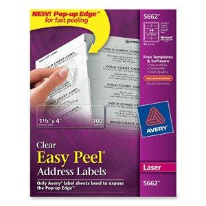 """Avery Easy Peel Address Label - 1.33"""" Width x 4.12"""" Length"""