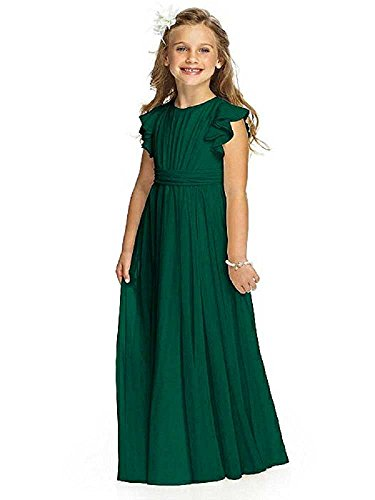 Castle Fairy Girls Holy Communion Long Gowns Pageant Junior Bridesmaid Evening Dresses 08 Dark Green -