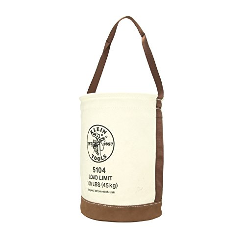 Canvas Bucket Bag - Canvas Bucket with Leather Bottom Klein Tools 5104
