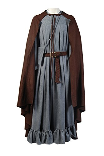 Men's Halloween Cape The Fellowship of the Ring Gandalf Costume ,Small (Gandalf Costumes)