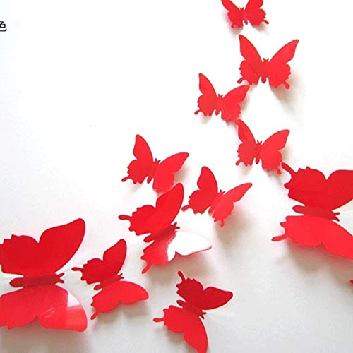 Culturemart 12pcs Butterfly Stickers Country Wedding Bridal Baby Shower Birthday Christmas Year Anniversary Festival Backdrop Decoration -