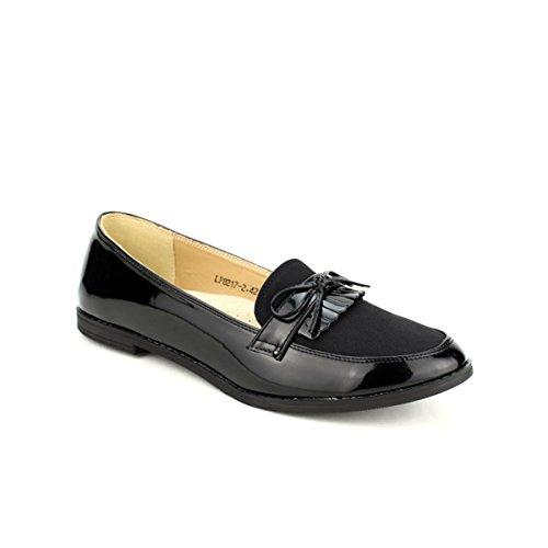 Cendriyon Derbies Noires BI Matière KLOUY Chaussures Femme Noir 0vMVvxd