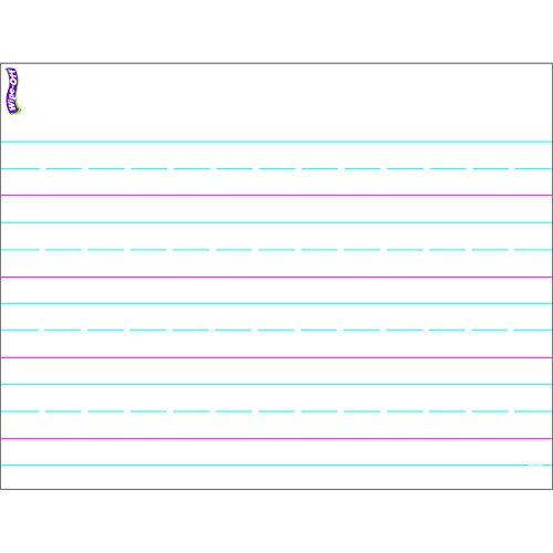 Writing Paper Chart - TREND enterprises, Inc. Handwriting Paper Wipe-Off Chart, 17