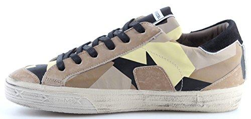 Philippe Model Herren Schuhe Sneaker Paris Bercy Geometrique Sable Made in Italy