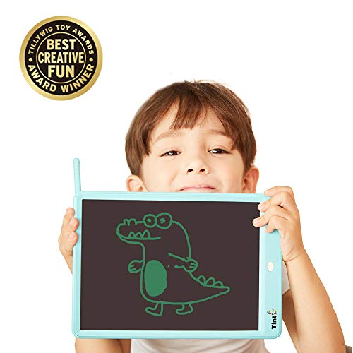 TintZone LCD Writing Tablet 10 Inch, Electronic Writing & Drawing Board Doodle Board, Handwriting Paper Drawing Tablet Premium Gifts for Kids Office Memo Family Home, E Writing Board with 1 Key Erase