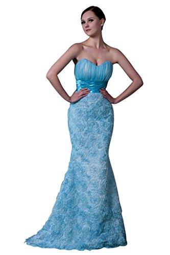 traegerlosen weise BRIDE und Blau Abendkleid Meerjungfrau Entwurfsart GEORGE Blau Neuer nT6fx7