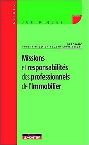 Livres gratuits Missions et responsabilités des professionnels de l'immobilier pdf, epub