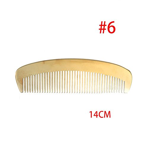 (Oceaneshop Barbershop Amber Home Hair Care Brush Natural Ox Horn Comb Barber Tool Hairdressing )