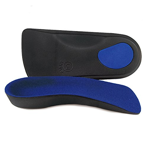 3/4 Length Orthotics Insoles - Shoe Insoles For Corrects Over-pronation,Fallen Arches, Fat Feet - Plantar Fasciitis, Heel Spurs, Bunions, And Other Foot Conditions (S - W7-8.5 | M5.5-7) (Heel Spur Cradle)