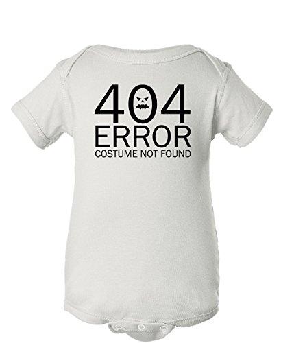 Tenacitee Baby Girl's 404 Costume Not Found Bodysuit, 12 Months, White (Nerdy Girl Costume Ideas)